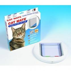 Cat Mate 210W Üvegajtóba szerelhető Macskaajtó-Fehér