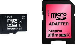 Integral MicroSDHC 16GB Class 10 INMSDH16G10-90/45U1