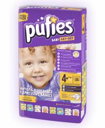 pufies 4+ Maxi Plus (9-16 kg) 56 buc