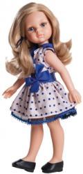 Paola Reina Papusa Carla in tinuta roz cu buline albastre (4506)