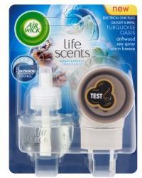 Air Wick Electrical Plug In Life Scents Turquoise Oasis elektromos légfrissítő és utántöltő (19ml)