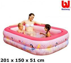 Bestway Disney Hercegnők felfújható családi medence 201x150x51cm (91056)