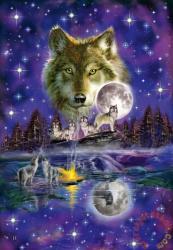 Schmidt Spiele Wolf im Mondlicht - Farkas a holdfényben 1000 db-os (58233)