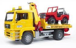 BRUDER Camion de tractare MAN si masina de teren (2750)
