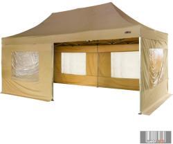 Összecsukható kerti sátor, kerti pavilon, rendezvénysátor 3*6m 2 db oldalfallal (16003003)