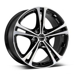 Borbet XL black polished 5/108 17x7.5 ET40