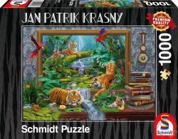 Schmidt Spiele Tiger im Dschungel/Tigris a dzsungelben 1000 db-os (59337)