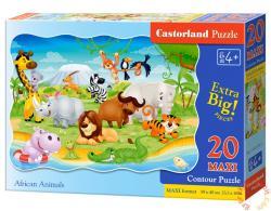Castorland Maxi Puzzle - Afrikai állatok 20 db-os (C-02276)