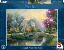 Schmidt Spiele Thomas Kinkade: Lamplight Manor / Lámpafény kastély 3000 db-os (57463)