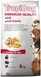 TropiDog Premium Adult Small Breeds - Turkey & Rice 8kg