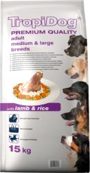 TropiDog Premium Adult Medium & Large Breeds - Lamb & Rice 15kg