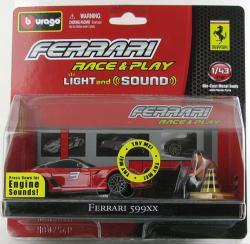 Bburago Race & Play - Light and Sound - Ferrari 599XX 1:43