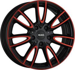 Mak Jackie Anod Red Black CB56.6 4/100 15x5.5 ET45