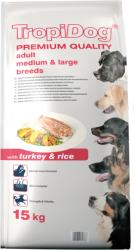TropiDog Premium Adult Medium & Large Breeds -Turkey & Rice 15kg