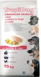 TropiDog Premium Adult Medium & Large Breeds -Turkey & Rice 15kg