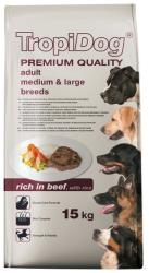 TropiDog Premium Adult Medium & Large Breeds - Beef & Rice 15kg