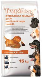 TropiDog Premium Adult Medium & Large Breeds - Duck & Rice 15kg