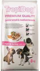 TropiDog Premium Junior Small & Medium Breeds - Turkey & Rice 8kg
