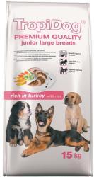 TropiDog Premium Junior Large Breeds - Turkey & Rice 15kg