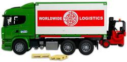 BRUDER Scania R-szériás teherautó targoncával (03580)