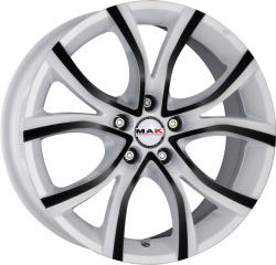 Mak Nitro 5 Anod White Black CB72 5/108 17x7.5 ET45