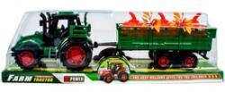 Lendkerekes traktor növényszállító utánfutóval 30cm
