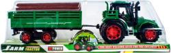 Lendkerekes traktor rönkszállító utánfutóval 30cm