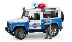 BRUDER Land Rover Defender rendőrautó, rendőr figurával