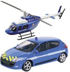 Mondo Gendarmerie Renault Megane és helikopter 1:43