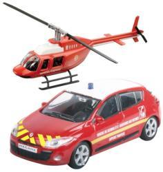 Mondo Tűzoltó Renault Megane és helikopter 1:43