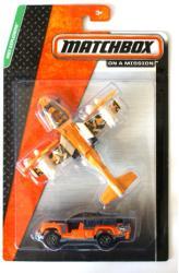 Mattel Matchbox - Sivatagi felderítő autó és repülőgép szett
