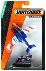Mattel Matchbox Repülő és kisautó - Kék repülőgép és kék lánctalpas hókotró
