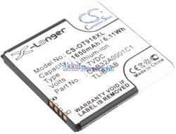 Utángyártott Alcatel Li-ion 1650 mAh CAB1500007C1