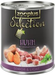 zooplus Selection Senior & Light - Chicken 6x400g