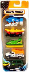 Mattel Matchbox - 5db-os kisautó készlet - Sea Rescue