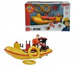 Simba Sam, a tűzoltó járművek - Neptune motorcsónak figurával