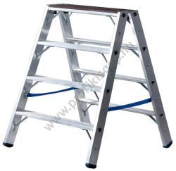 KRAUSE STABILO Professional 2x4 fokos két oldalon járható állólétra fa felülettel (123862)