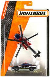 Mattel Matchbox Repülő és kisautó - Bordó helikopter és rendőrautó