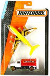 Mattel Matchbox Repülő és kisautó - Sárga repülő és piros-fehér teherautó