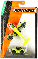 Mattel Matchbox Repülő és kisautó - Zöld repülő és zöld terepjáró