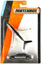 Mattel Matchbox Repülő és kisautó - Fekete-fehér repülő és szürke limuzin