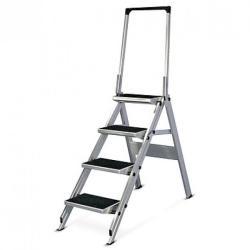 KRAUSE STABILO Professional 4 fokos összecsukható lépcső lehajtható kapaszkodókerettel (810267)