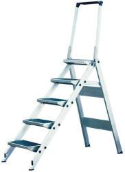 KRAUSE STABILO Professional 5 fokos összecsukható lépcső lehajtható kapaszkodókerettel (810274)