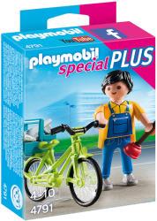 Playmobil Instalatorul Cu Bicicleta (PM4791)