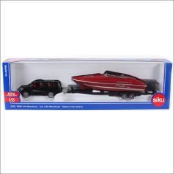 Siku Versenycsónakot szállító autó (2543)