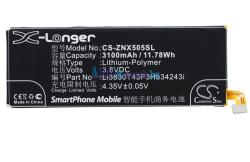 Compatible ZTE Li-Polymer 3100 mAh Li3830T43P3hB34243i