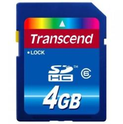 Transcend SDHC 4GB Class 6 TS4GSDHC6