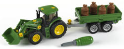 Klein John Deere traktor utánfutóval