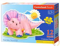 Castorland Maxi Puzzle - Rózsaszín dinó bébi 12 db-os (B-120048)