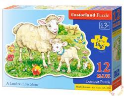 Castorland Maxi Puzzle - Bárány az anyukájával 12 db-os (B-120079)